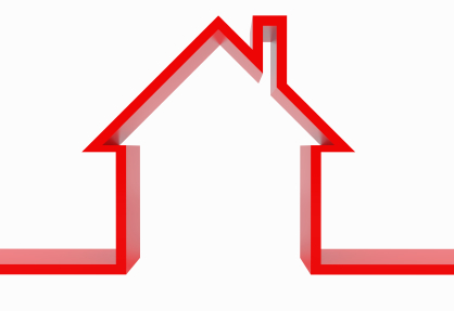outline of a house in red